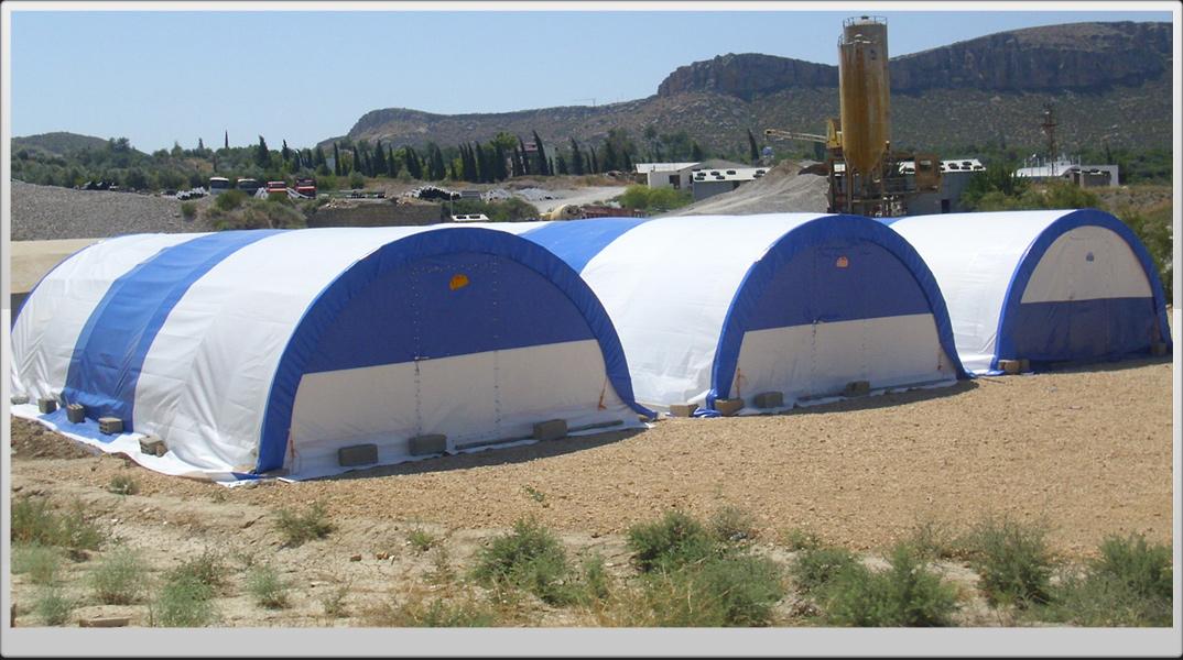 şantiye hangar depo çadırı